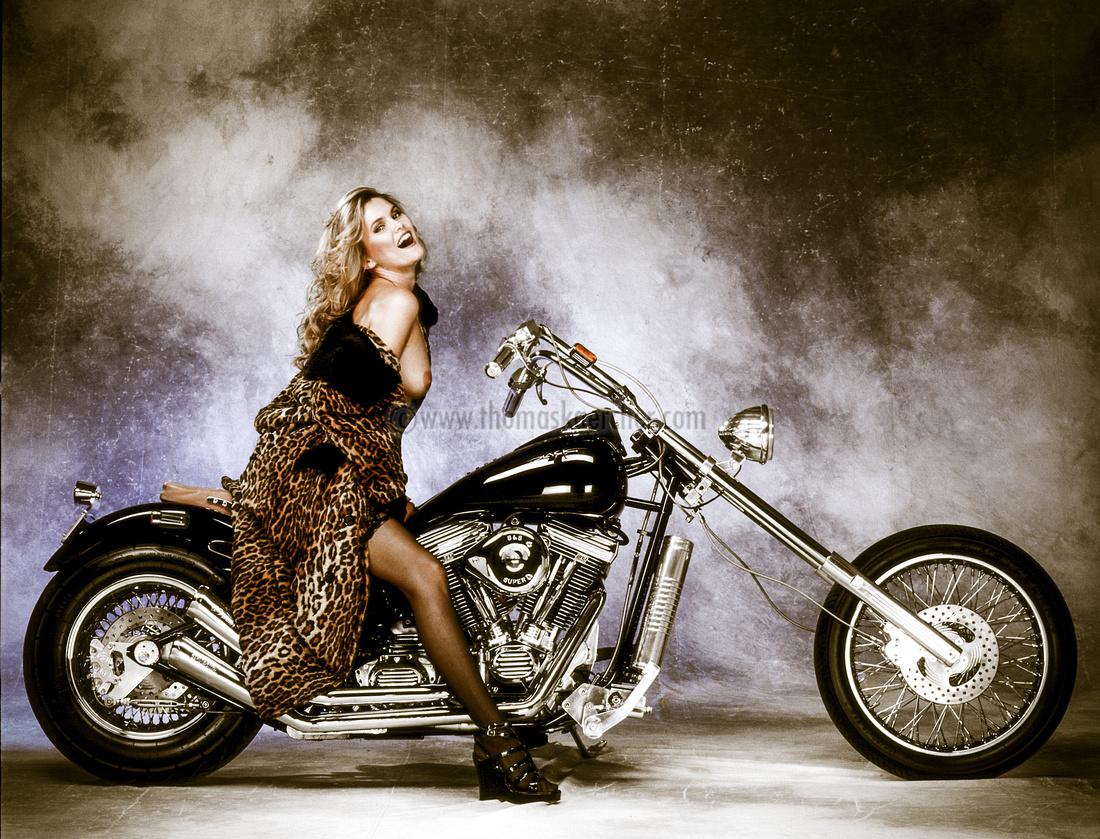 Harley Davidson with Model