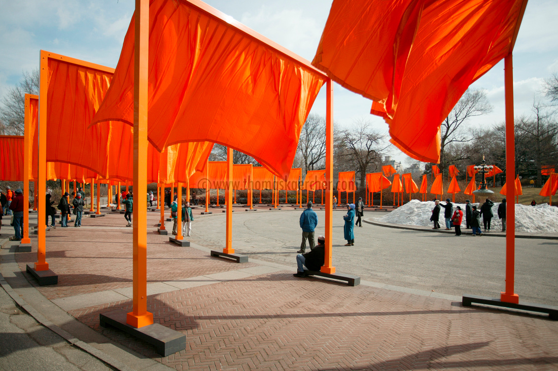 The Gates, Christo + Jeanne Claude, Central Park NYC, USA, 2005